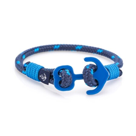 Тёмно-синий браслет с якорем для мужчин и женщин — № 606 R