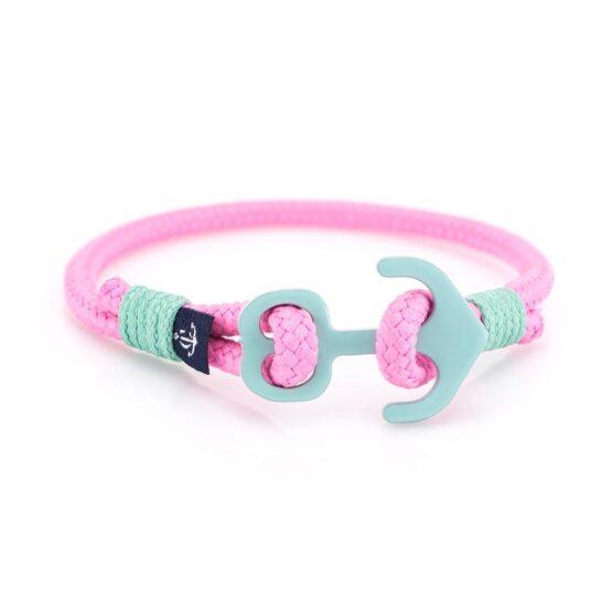 Розовый браслет с якорем для женщин — KNOBBY 607 R