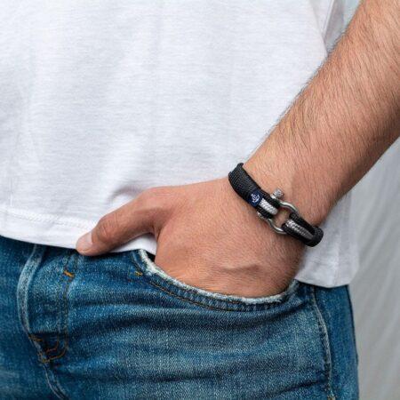 Чёрно-белый браслет для мужчин и женщин — № 3076 R