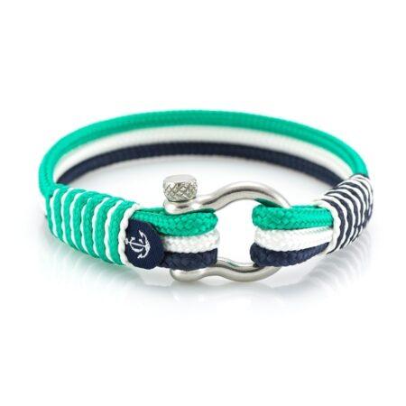 Браслет зелёного цвета для мужчин и женщин — № 3121 R