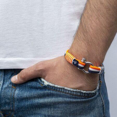 Морской оранжевый браслет для Мужчин и Женщин — № 3125 R