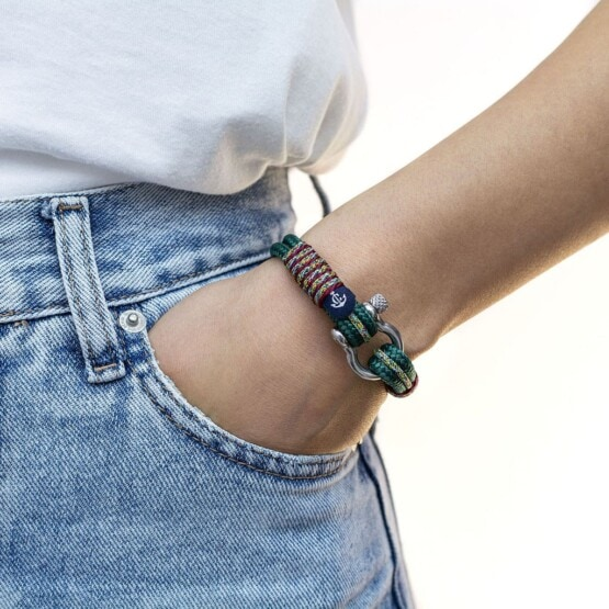 Морской браслет зелёного цвета для женщин и мужчин — № 4061 R