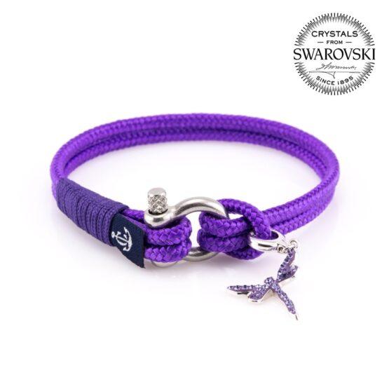 Фиолетовый женский браслет — SWAROVSKI BECHARMED 7071