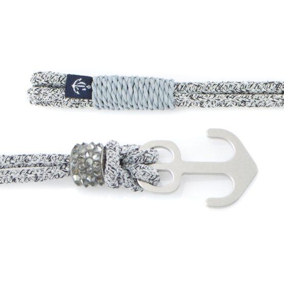 Серый женский браслет с серебристым якорем — SWAROVSKI 7082