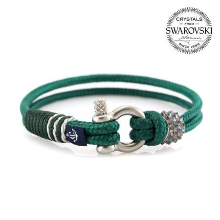 Женский синий браслет с белым камнем — SWAROVSKI 7215