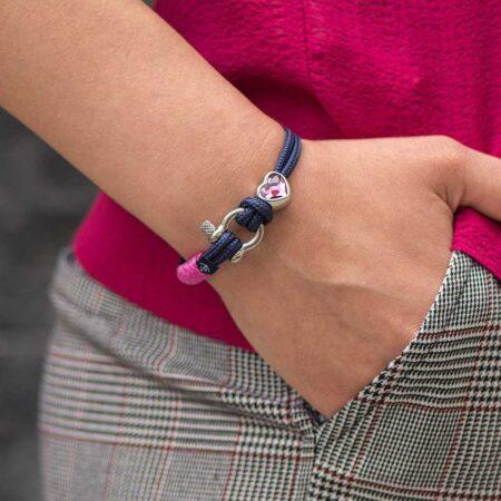 Женский синий браслет с камнем Сваровски — SWAROVSKI 7235