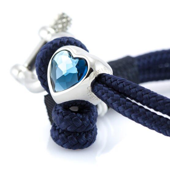 Женский синий браслет с камнем Сваровски — SWAROVSKI 7239