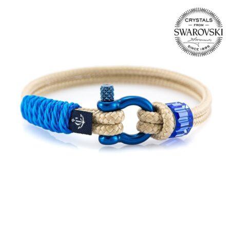 Женский бежевый браслет с голубым камнем — SWAROVSKI SUNRISE 7243