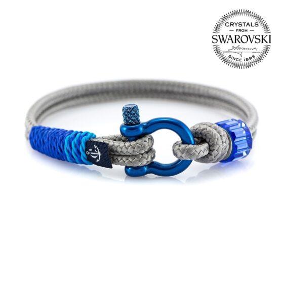Женский серый браслет с синим камнем — SWAROVSKI SUNRISE 7245