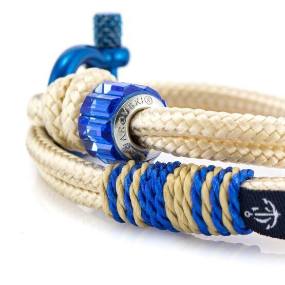 Женский бежевый браслет с голубым камнем — SWAROVSKI SUNRISE 7246