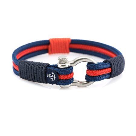 Морской браслет красно-синего цвета — 7547