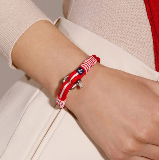 Морской браслет красного цвета для мужчин и женщин — № 828