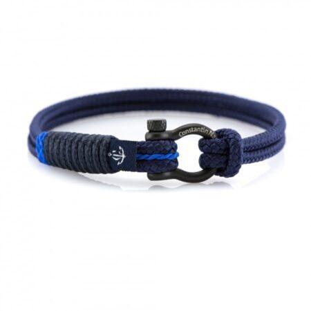 Тёмно-Синий браслет морской тематики Унисекс — CNB SLIM 876
