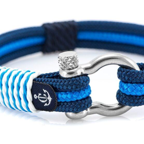 Чёрно-Синий морской браслет для мужчин и женщин — № 5103 фото 2