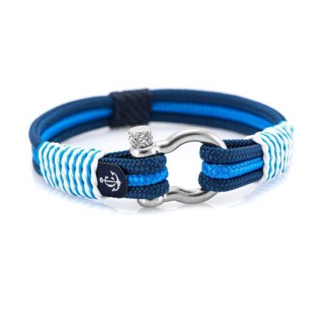 Сине-Голубой морской браслет для мужчин и женщин — № 5103