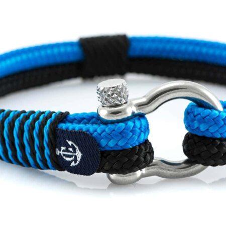 Чёрно-Синий морской браслет для Мужчин и Женщин — № 5106 фото 2