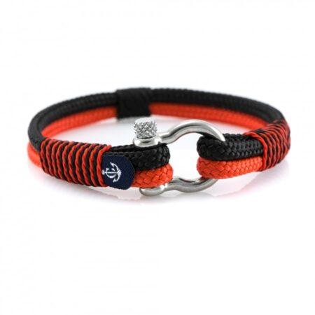 Красно-Чёрный Морской Браслет — YACHTING #5107
