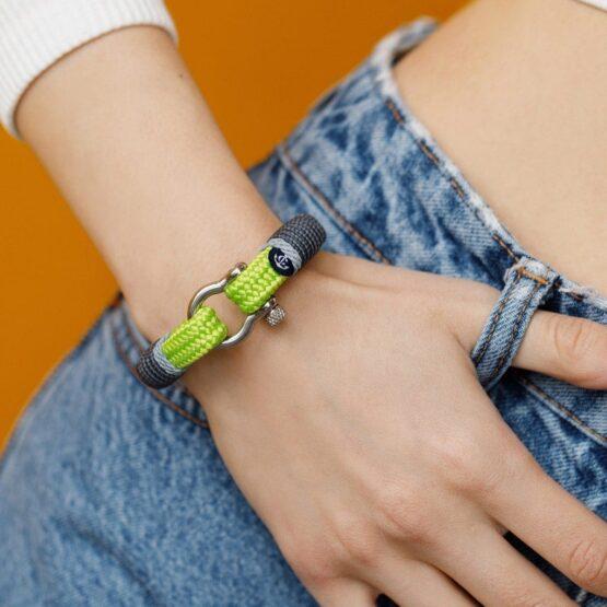 Салатовый браслет для мужчин и женщин — № 5108