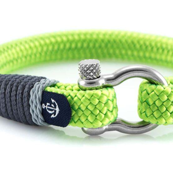 Светло-зелёный браслет для мужчин и женщин — № 5108 фото 2