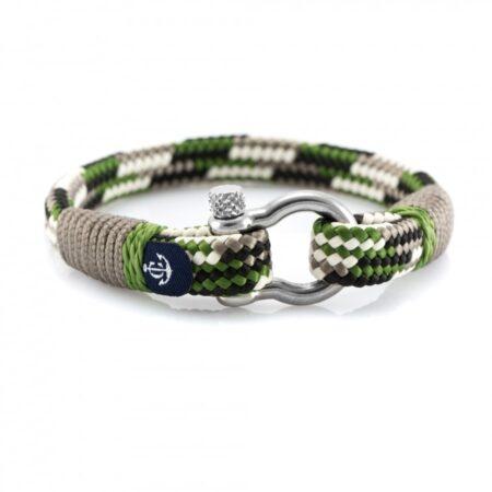 Комбинированный серо-зеленый браслет — № 5111