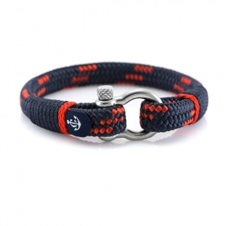 Темно-синий мужской браслет с красным акцентом — CORSAIR 5112