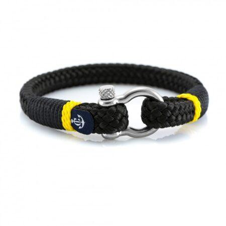 Черный мужской браслет с желтым акцентом — CORSAIR 5113