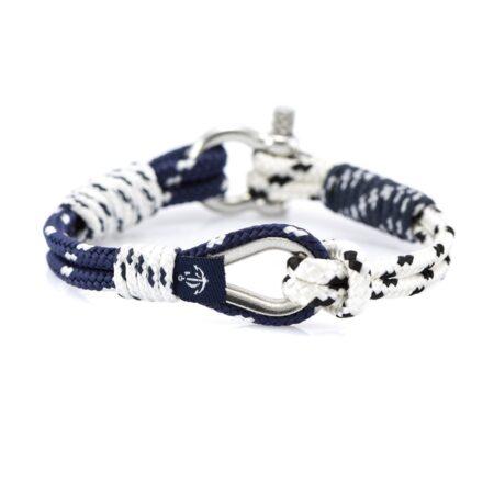 Сине-белый браслет морской тематики Унисекс — THIMBLE 717 SLIM