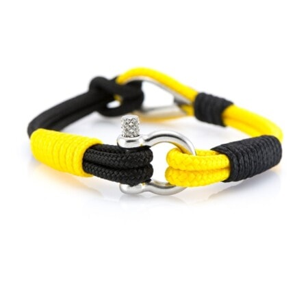 Черный-желтый браслет морской тематики Унисекс  — THIMBLE 716 SLIM