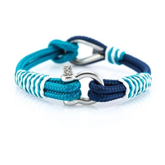 Сине-Голубой браслет с морской тематики Унисекс — THIMBLE 726 SLIM