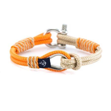 Женский оранжево-бежевый браслет морской тематики — № 727