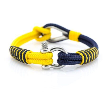 Жёлто-Синий браслет морской тематики Унисекс — THIMBLE 730 SLIM