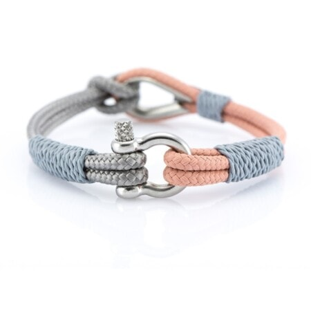 Мужской Серо-розовый браслет морской тематики — THIMBLE 734 SLIM