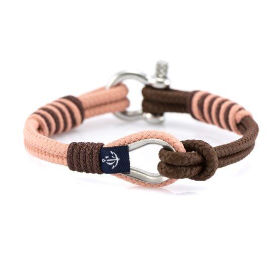 Мужской коричнево-розовый браслет морской тематики — THIMBLE 735 SLIM