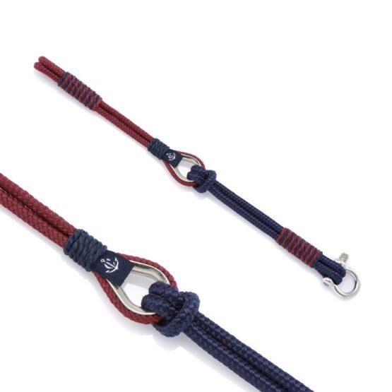 Мужской коричнево-синий браслет морской тематики — THIMBLE 737 SLIM (Копировать)