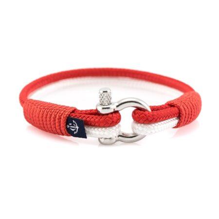 Женский Красно-Белый браслет морской тематики — CNB SLIM 874