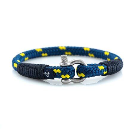 Тонкий Тёмно-синий с жёлтым браслет для мужчин и женщин — CORSAIR SLIM 881