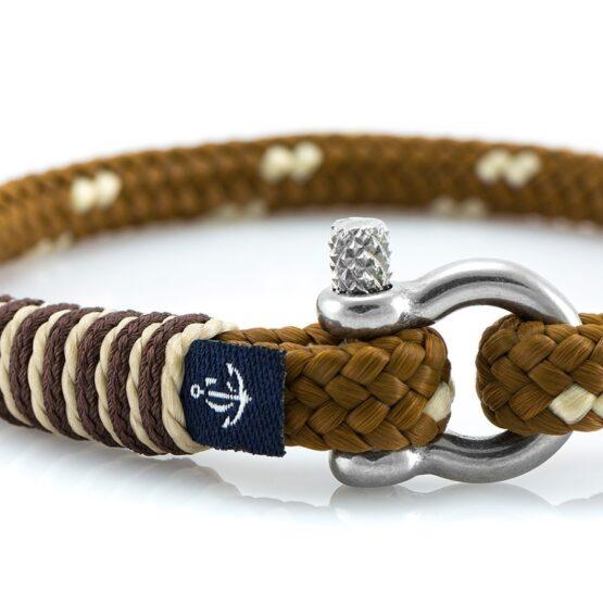 Тонкий светло-коричневый браслет для мужчин и женщин — № 879 фото 2