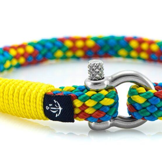 Тонкий цветной браслет для женщин — № 883 фото 2