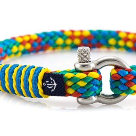 Тонкий разноцветный женский браслет — № 887 фото 2