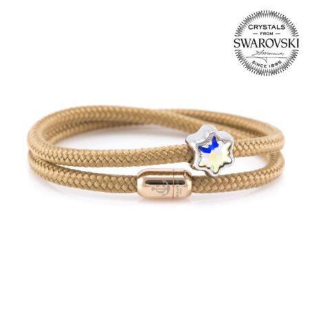 Браслет Сваровски бежевого цвета с магнитом для женщин — № 7156