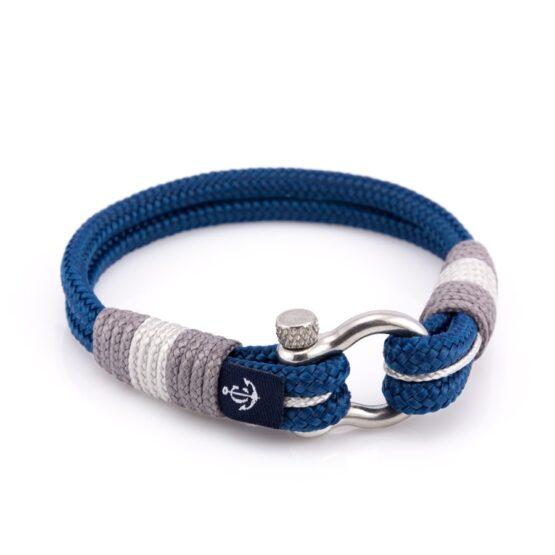 Браслет синего и серого цвета для мужчин и женщин — № 5005