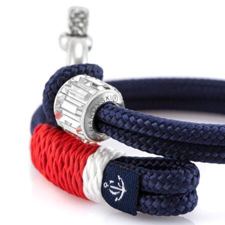 Синий женский браслет с камнем Swarovski — 7269