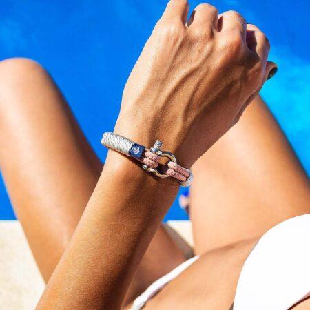 Морской персиковый браслет для женщин — № 0804 - photo 3