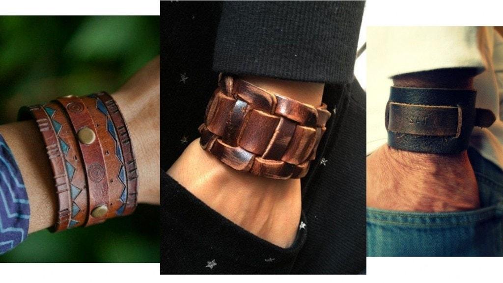 В тренде: Кожаные браслеты фото 1