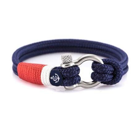 Браслет синего цвета для мужчин и женщин — № 5114