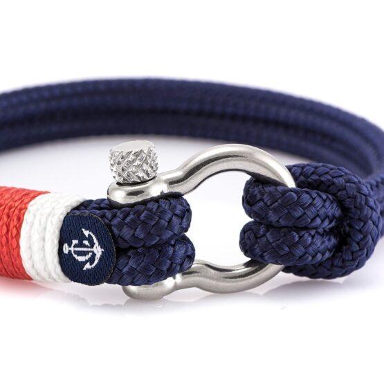 Парные синие браслеты для влюблённых с камнем Swarovski — № 984 фото 3