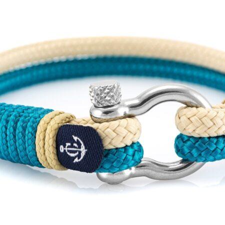 Бирюзовый и бежевый браслет для мужчин и женщин — № 5115 фото 1