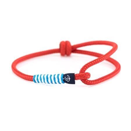 Тонкий красный браслет регулируемый по размеру CNB 77