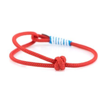 Тонкий красный браслет регулируемый по размеру CNB 77 photo 2