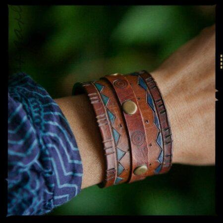 В тренде: Кожаные браслеты фото 8
